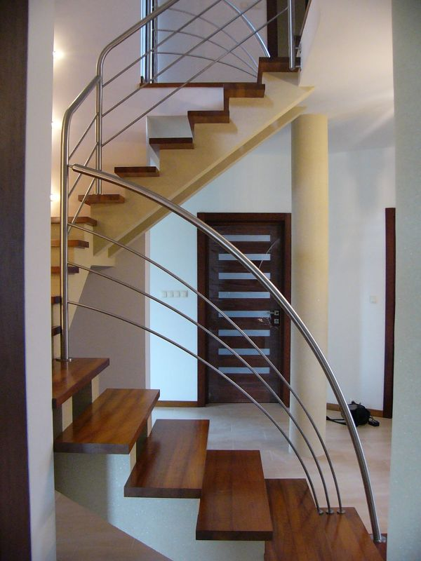 Poważne Balustrady wewnętrzne ze stali nierdzewnej, Barierki schodowe UZ28