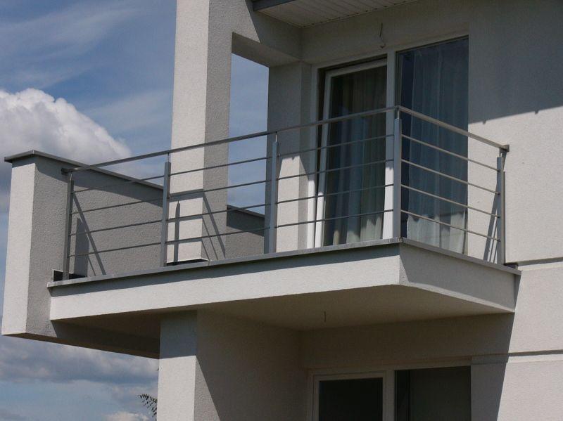 Balustrady Balkonowe Zewnętrzne Ze Stali Nierdzewnej